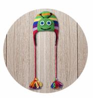 Caterpillar Yoga hat