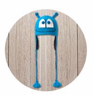 Blue alien Yoga hat