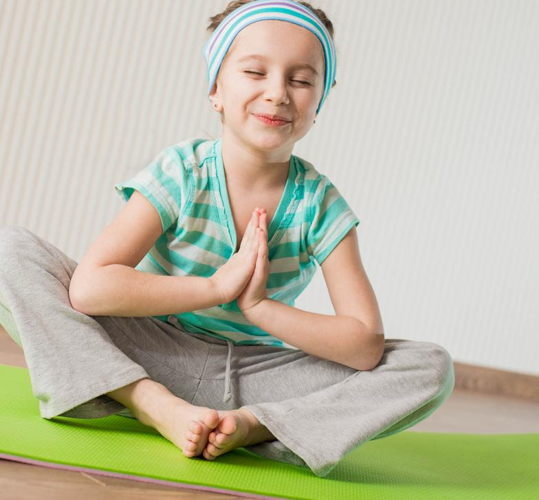 child meditating